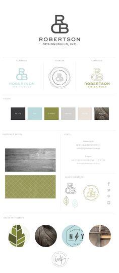 Brand Design Board for Robertson Design via Salted Ink