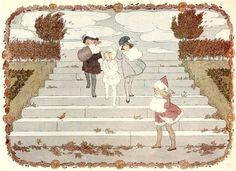 """Henriette Willebeek le Mair, illustration for """"Little Songs of Long Ago"""""""