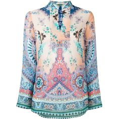 Etro Floral Paisley Print Blouse ($715) ❤ liked on Polyvore featuring tops, blouses, multicolour, silk blouses, etro tops, flower print top, silk top and flower print blouse