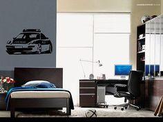 Police sport speed car Wall Decor Vinyl Decal Sticker MURAL Interior Desig AR359