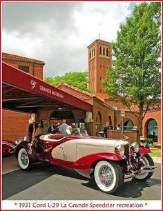 """specialcar: """" 1931 Cord boattail speedster recreation by """" Cord Automobile, Automobile Companies, Diesel Punk, Vintage Cars, Antique Cars, Vintage Auto, Vintage Stuff, Duesenberg Car, Auburn Car"""