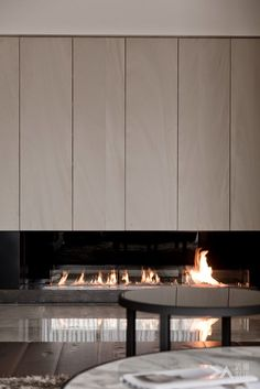 Like the cabinetry above this fireplace by DA Interior Taiwan Home Fireplace, Modern Fireplace, Living Room With Fireplace, Fireplace Design, Fireplaces, Home Living Room, Interior Design Living Room, Living Tv, Contemporary Interior
