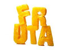 Edible Typography, fruit, by Nuria Bringué Bergua