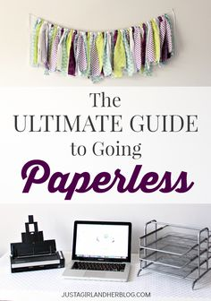 If you've ever thought of going paperless, this post will give you all the info you need to get started!
