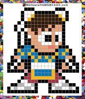 Patrones Hama Beads Super Street Fighter IV: Arcade Edition