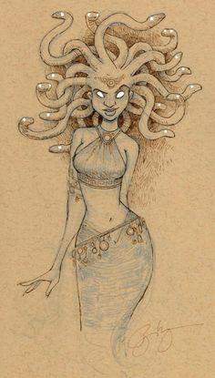 medusa sketchbook print  Various Sizes by BrianKesinger on Etsy