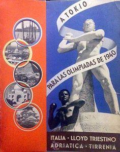 Líneas de navegación: Catálogo Lloyd Triestino. ´A Tokio para las Olimpiadas de 1940´ Cruceros Barcos Fascismo italiano - Foto 2 - 53129718