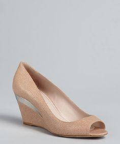 01e31c050a8b Miu Miu powder stingray embossed leather peep toe wedges