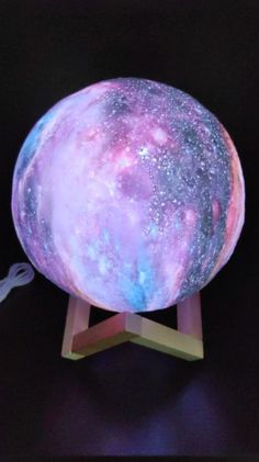 Galaxy Lamp from RomeaDecor.com - We are almost out of stock again! Get yours now or miss out! Only at RomeaDecor.com Bedside Table Lamps, Different Light, Outer Space, Decor, Decoration, Side Table Lamps, Cosmos, Universe, Decorating