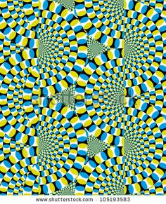 optical illusion, movement