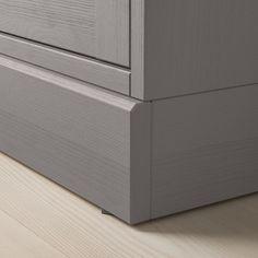 IKEA - HAVSTA Glass-door cabinet with base gray, clear glass Glass Cabinet Doors, Sliding Glass Door, Glass Doors, Scandinavian Furniture, Scandinavian Design, Solid Pine, Solid Wood, Plastic Foil, Tempered Glass Shelves