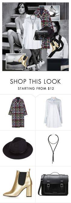 """""""...."""" by margarita-m-a ❤ liked on Polyvore featuring N-DUO, Brock Collection, Lulu*s, Topshop, Dr. Martens and Le Specs"""