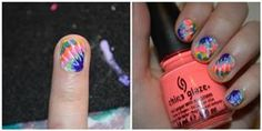 Nail Art Tutorial: Tie Dye Finger Nails