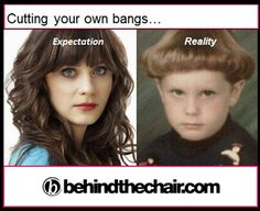 Cutting your own bangs... Yup.