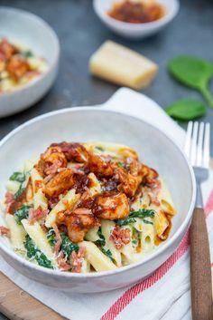 Pasta Recipes, Chicken Recipes, Snack Recipes, Dinner Recipes, Healthy Recipes, My Favorite Food, Favorite Recipes, Good Food, Yummy Food