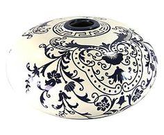 Vaso decorativo in ceramica dipinto a mano Diana - 21x10x21 cm