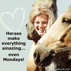 Horses make everything amazing. ..even Mondays!