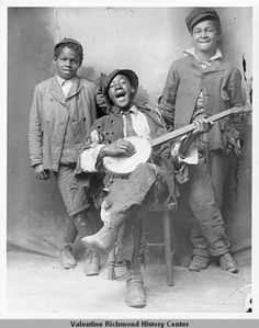 Boys With Banjo from the 1880's