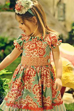 NEW Aqua and Tangerine Spring Twirl Dress  Sizes by EmmiLeeDesigns, $45.00