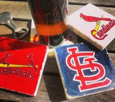 Beautifully handcrafted coasters featuring current + retro logos for all MLB teams.