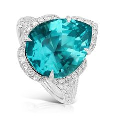 Kat Florence pear-cut apatite ring - The Jewelry Editor