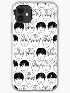 BTS faces phone case Framed Prints, Canvas Prints, Art Prints, Kpop Phone Cases, Bts Face, Iphone Case Covers, Duvet Covers, Faces, Boys