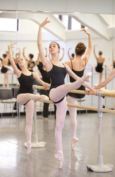 Advanced girls at the School of American Ballet Summer Course. Photo by Rosalie O'Connor.