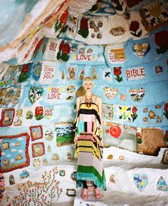 models make a fashion pilgrimage to hand-painted salvation mountain