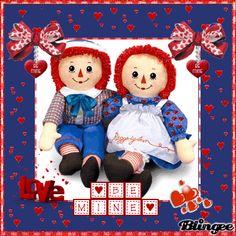 Raggedy Ann & Andy Valentine