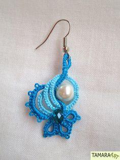 Tamara ART: Frivolité / Tatting earrings (free pattern on irisniebach.blogspot.com) ♡