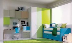 Fresh-Green-Teenage-Girls-Bedroom | Home Design, Interior Decorating, Bedroom Ideas - Getitcut.com