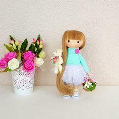 Marie Doll Handmade Doll Fabric Doll от NICEDOLLSANDRABBITS