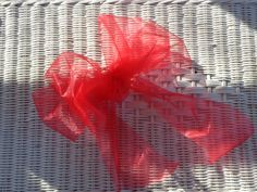 Red shimmer ribbon bow Valentine decoration wedding package bow wreath decor