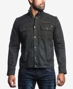 Vêtements et accessoires Affliction Homme brodé boutonnée JEAN chemise Bleu Aigle Western Roar 88 $
