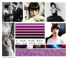 """""""Set #1697 - Louise Brooks"""" by the-walking-doctor ❤ liked on Polyvore featuring art"""