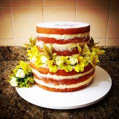 Naked Cake de baunilha