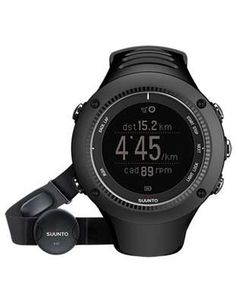 Suunto Ambit2 R Black Runners GPS - Negative Display - Includes Heart Rate Belt