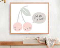 Love you so much Art print Printable Cherry by MelimeBabyArt