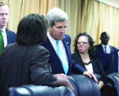 Kerry keeps pressure on South Sudan rebel leader as fighting rages