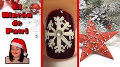 Diseño de uñas copo de nieve de Navidad de El rincón de Patri Nail Art. Sigue todos nuestros diseños de decoración de uñas en http://www.rincondepatri.com Snow Flake Nail Art