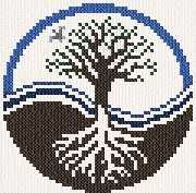 Tree of Life - cross stitch pattern designed by Marv Schier. Pony Bead Patterns, Beading Patterns, Embroidery Patterns, Cross Stitch Designs, Cross Stitch Patterns, Cross Stitching, Cross Stitch Embroidery, Wiccan Crafts, Vegvisir