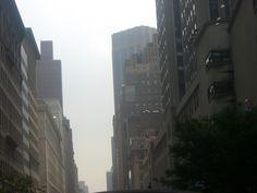 NYC under grey skies