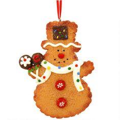 Gingerbread Snowman Clay Dough Ornament