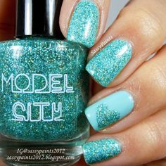 "Sassy Paints: Model City Polish: ""Aqua Aura"""