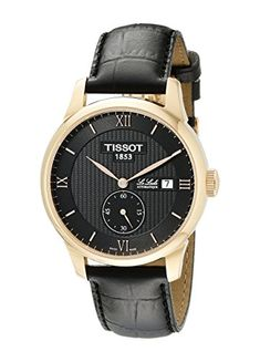 Tissot Men's T0064283605801 Le Locle Analog Display Swiss Automatic Black Watch >>> This is an Amazon Associate's Pin. You can get additional details at this Amazon Affiliate link.