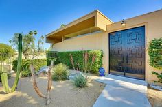 On the market in Palm Desert, CA is this 1965 Palmer & Krisel-designed condominium in the Sandpiper community. Palm Desert, Space Age, Mid Century House, Atrium, Condominium, Palm Springs, Mid-century Modern, Arizona, Design Inspiration