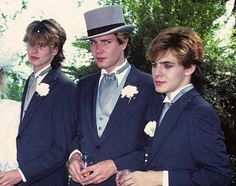 The guys at Andy's wedding at Chateau Marmont, 1982.