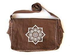 Lotus Putty Messenger Bag by FeistyFashion on Etsy, $32.00
