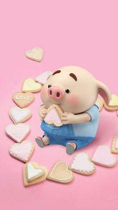 Three Little Piggies, This Little Piggy, Little Pigs, Pig Wallpaper, Kawaii Wallpaper, Animal Wallpaper, Cute Piglets, Pig Drawing, Pig Art
