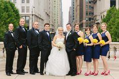 Navy Chicago Wedding Bridal Party